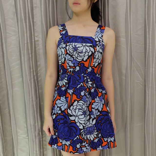MDS PATTERNED MINI DRESS