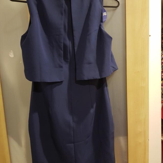 Navy blue short work dress size s