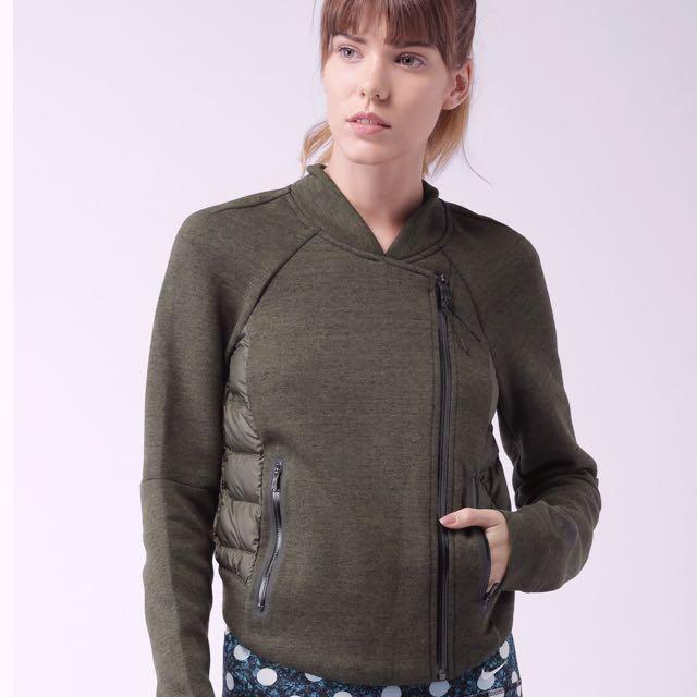 NIKE Tech Fleece Aeroloft 羽絨 運動外套 / 機能外套(軍綠)/ 灰鵝絨 / 反光拉鏈