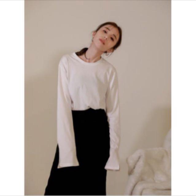 nude/Studiodoe袖開衩休閒長袖上衣