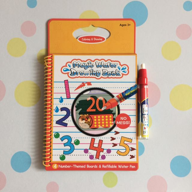 Numbers Magic Water Drawing Book