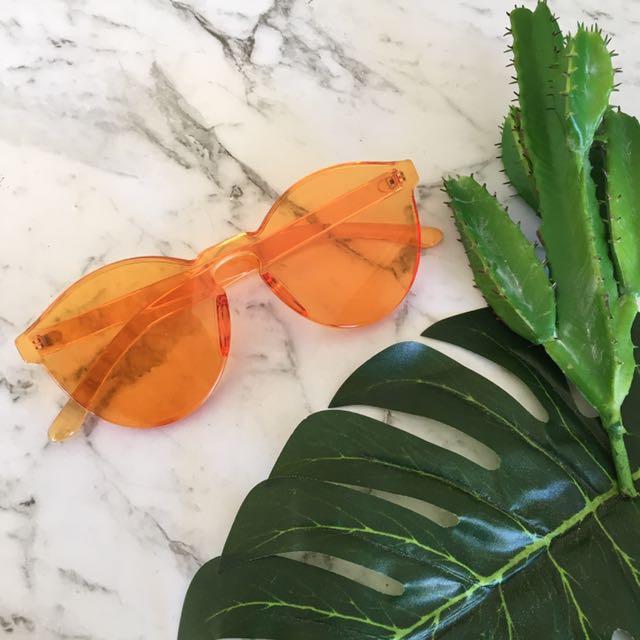 Orange Sunkissed Sunglasses UV400