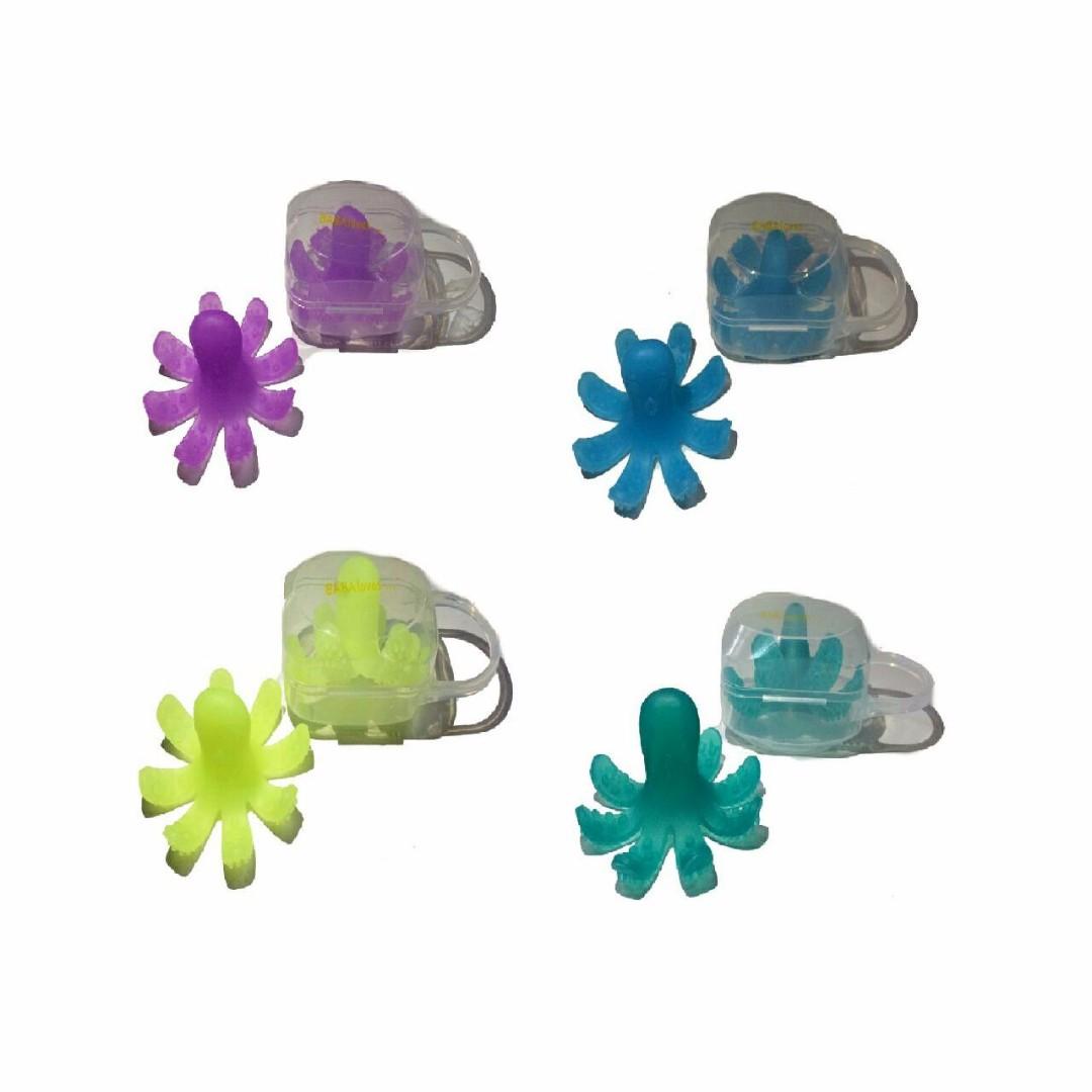 (p00325no1) teether bentuk octopus bergerigi(NO MERK)