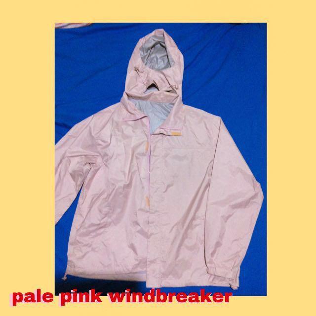 Pale pink windbreaker