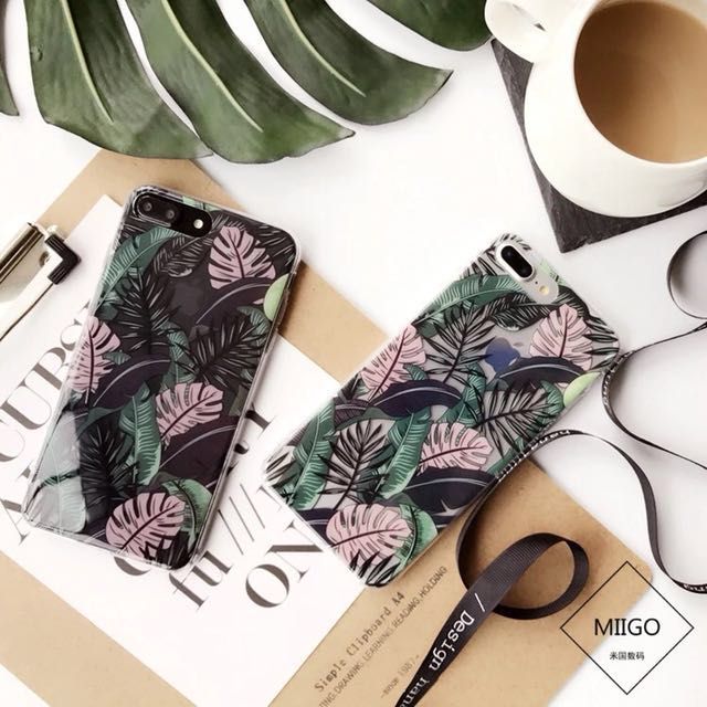 Palm Leaves iPhone 7+ brand new case