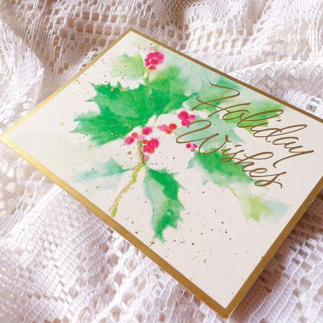 [Paper Magic] Vintage Holiday Wishes Christmas Card.