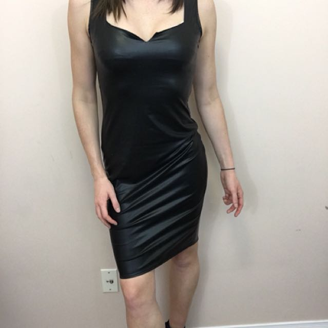 Pleather cocktail dress size S