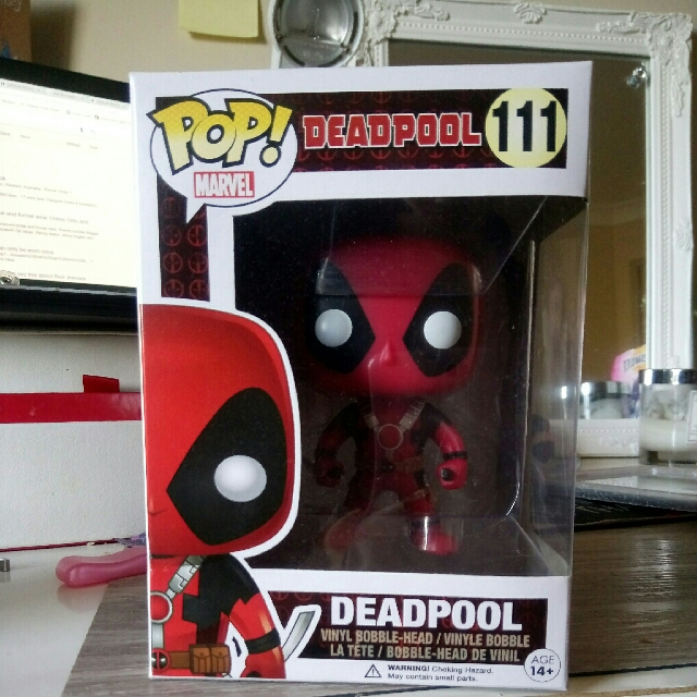 Pop marvel deadpool with swords