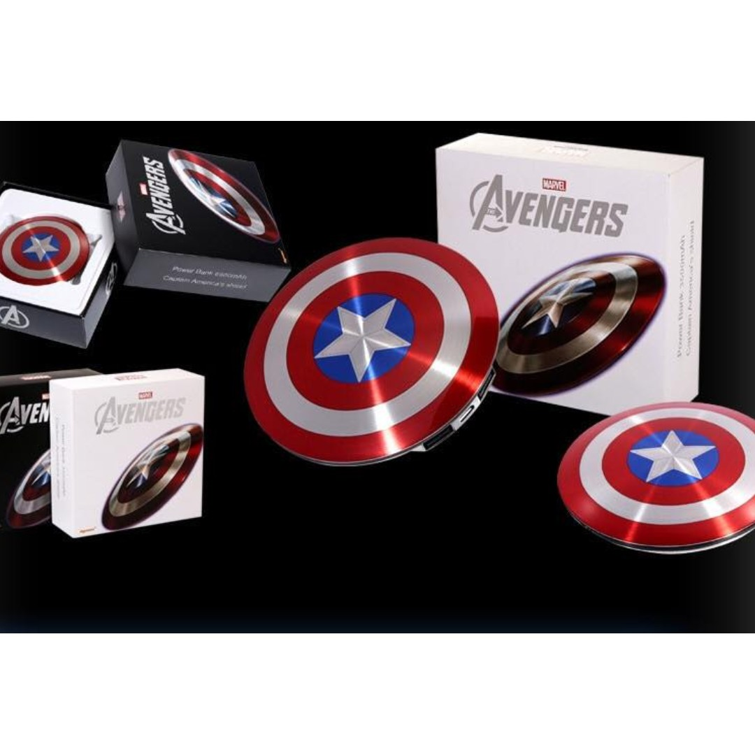 Power bank 6800mAh USB / The Avengers Captain America Shield Charge Mobile Power Supply portable charger