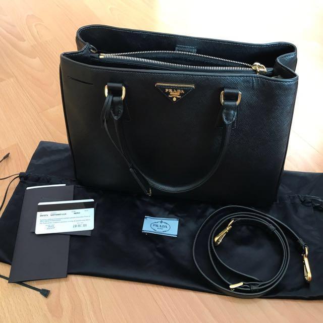 Prada Saffiano Nero black BN1874, bought Dec 2013 in Prada Singapore, compete receipt, dustbag, box, strap, very good condition - Negotiable