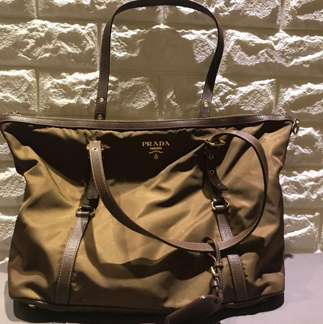 42e63170675 Prada Tessuto Saffiano Nylon Tote Bag w Zipper, Women s Fashion ...