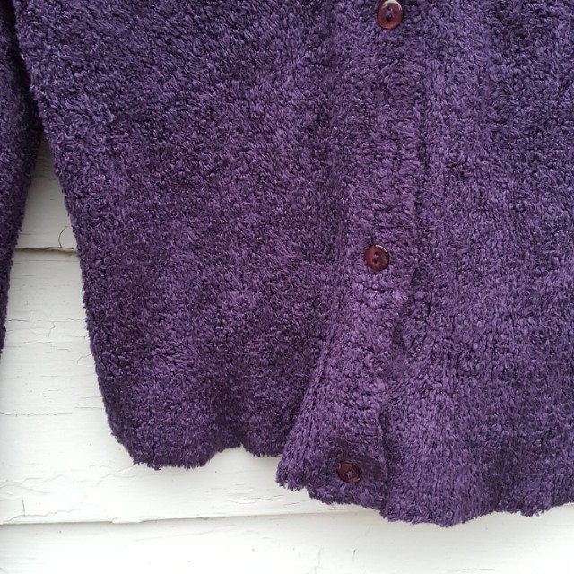 Purple Chenile Cardigan