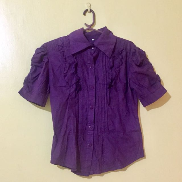 Purple Office Blouse