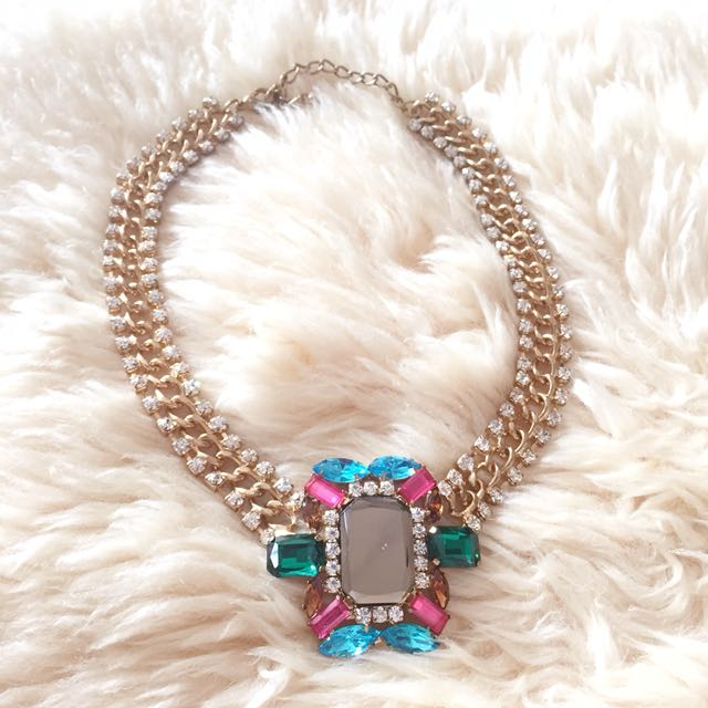Rainbow gold necklace