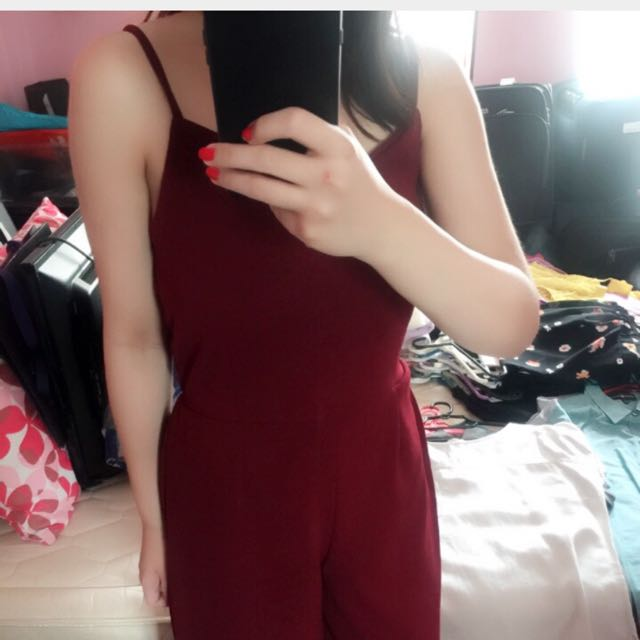 Red Jumpsuit (all size fits all)