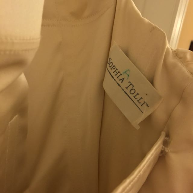 *REDUCED* Champagne 'Sophia Tolli' Lace-up Silk Wedding Dress