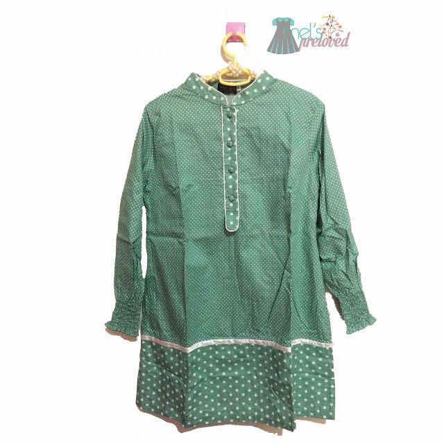 SALE ➡️Polka green dress
