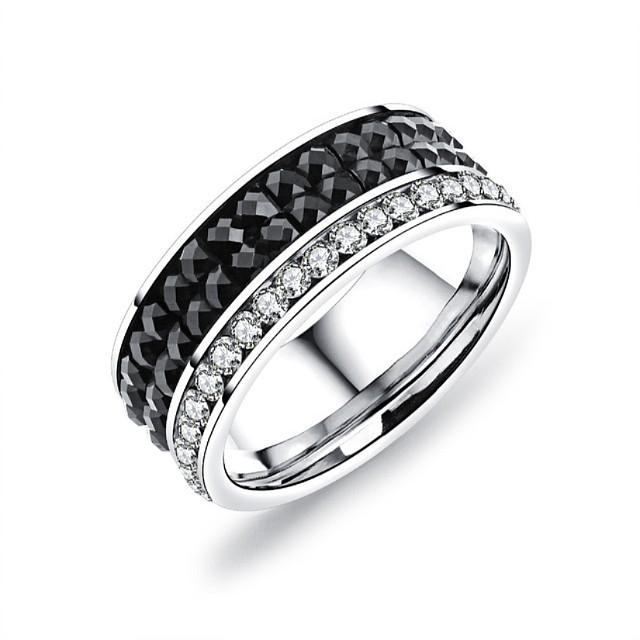 Best Sale Fashion Moissanite White Gold Diamond Wedding Ring