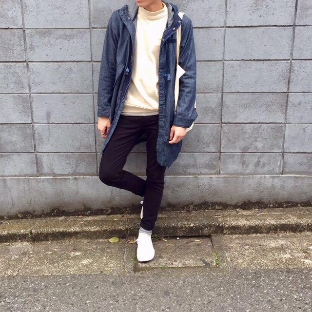 Sevendaysunday 連帽長外套 M號 #幫你省運費 #日系品牌#丹寧