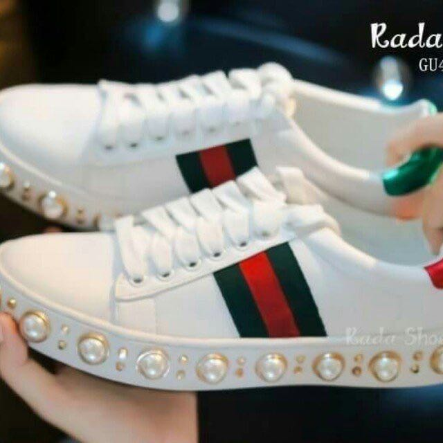f738e2d1566 Shoes style gucci sneakers pearl
