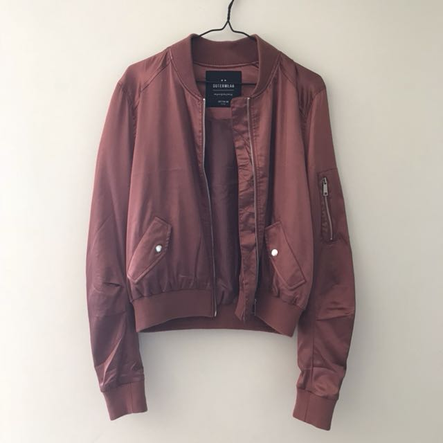 Silky pink bomber jacket