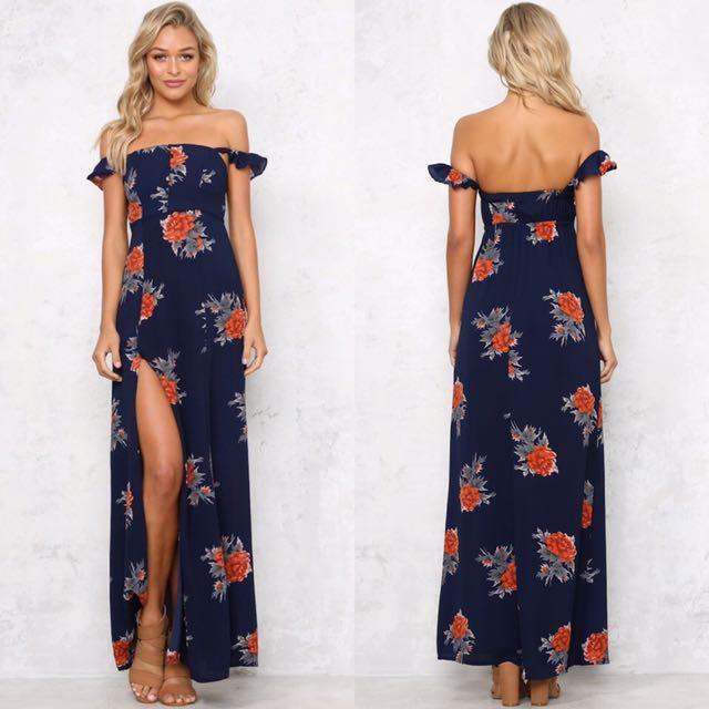 Size 8   Navy Blue Maxi Dress