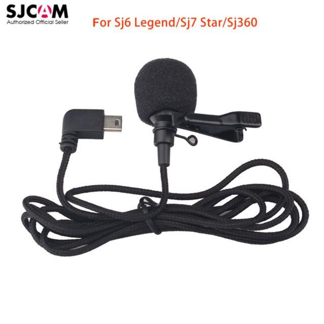 SJCAM Short External Microphone with Clip For SJ6 LEGEND SJ7 STAR ACTION CAMERA