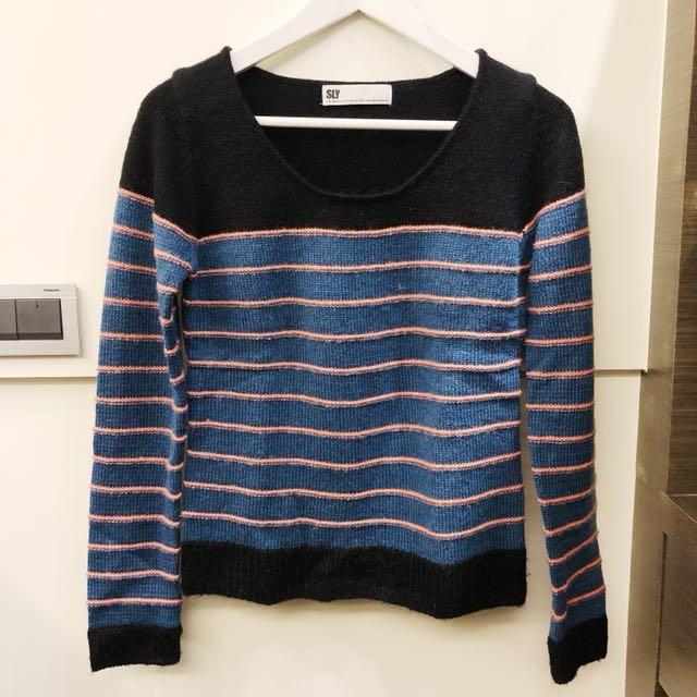 日本sly 條紋毛衣