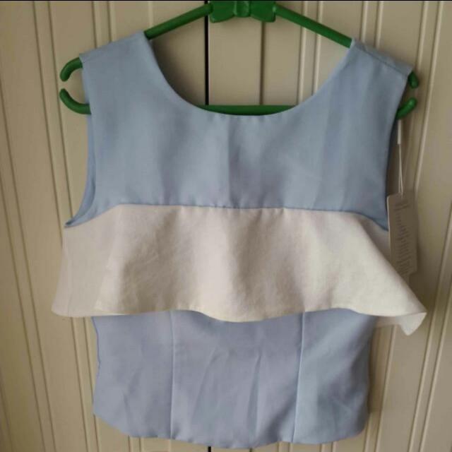 Soft blue top