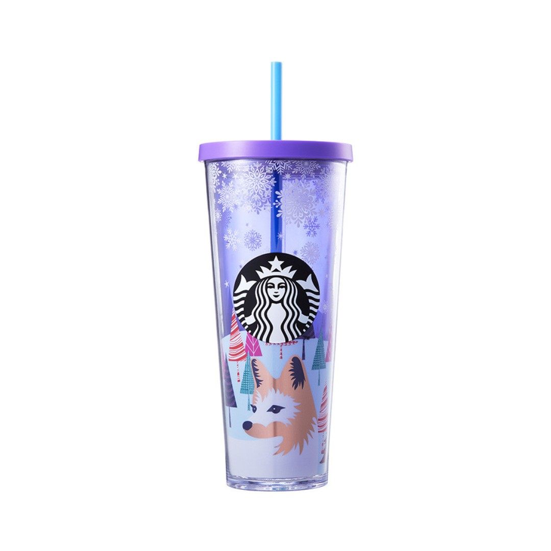 🆕Starbucks® 🎄 24oz Snowy Forest Cold Cup