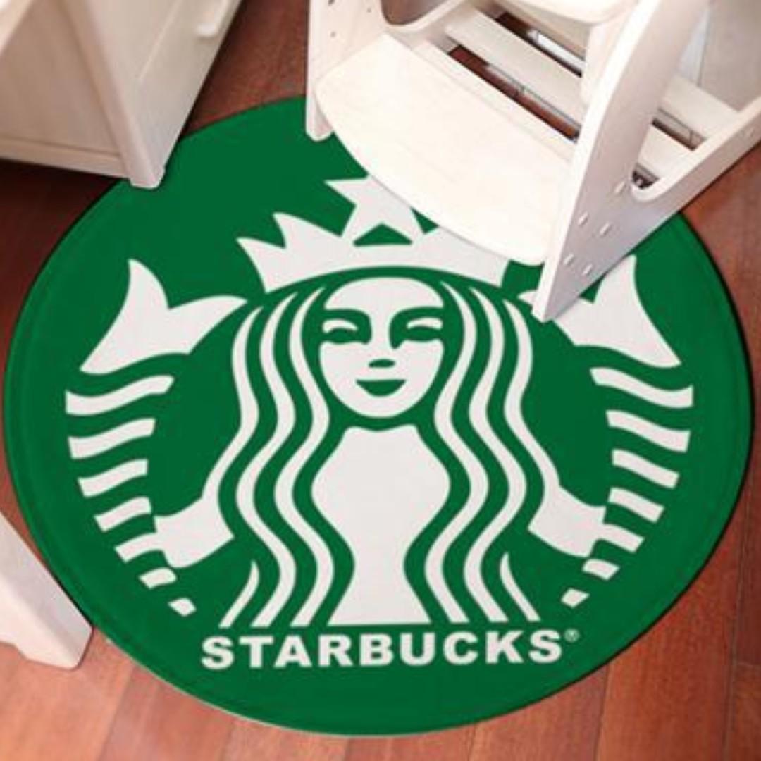 🆕Starbucks Inspired Logo Carpet - New Logo
