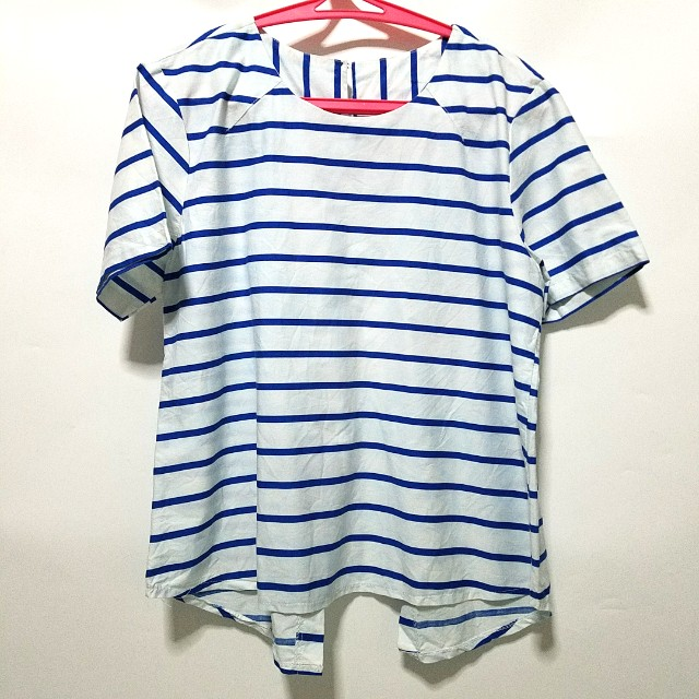 Stripe shirt bow