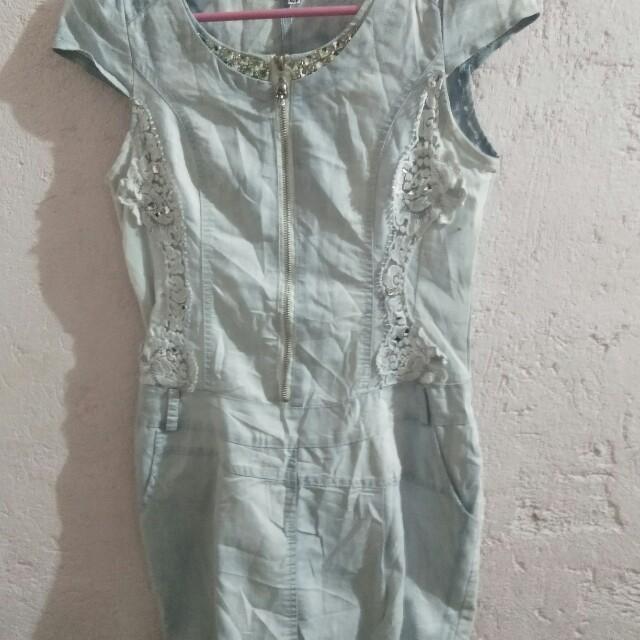 Studded maong dress
