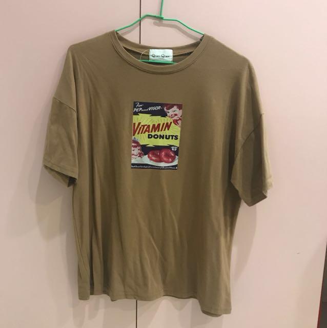 印花寬鬆短袖T恤