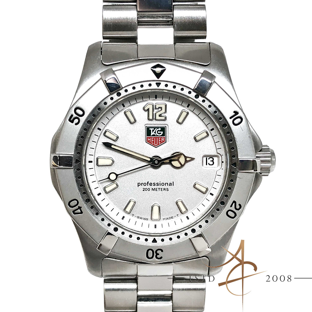 5bb722017f9 Tag Heuer Professional WK1212 Silver Midsize Steel Watch, Luxury, Watches  on Carousell