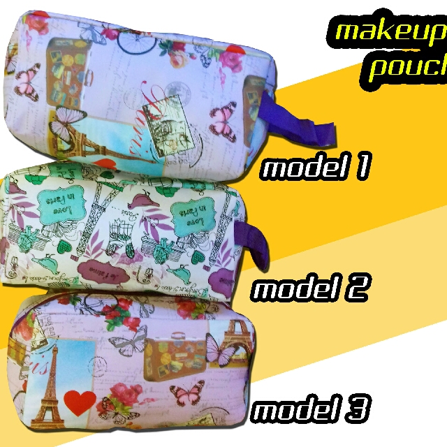 Tas Dompet Make Up Wanita Hand Bag Pouch Import