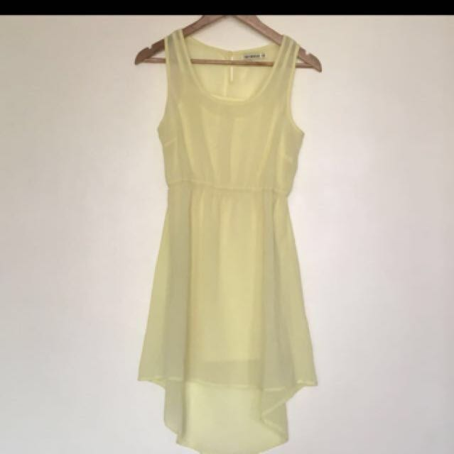 TERRANOVA Yellow Long Back Dress