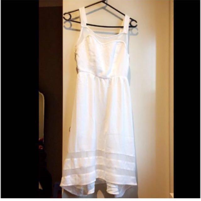 THE ICONIC ZALORA White high low summer dress