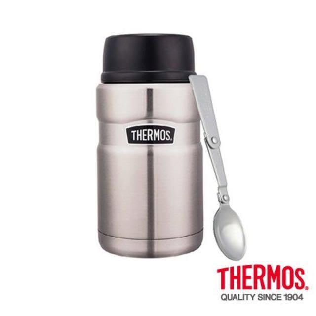 【THERMOS 膳魔師】不銹鋼真空保溫食物燜燒罐(附湯匙))720mlSBK(不銹鋼色)