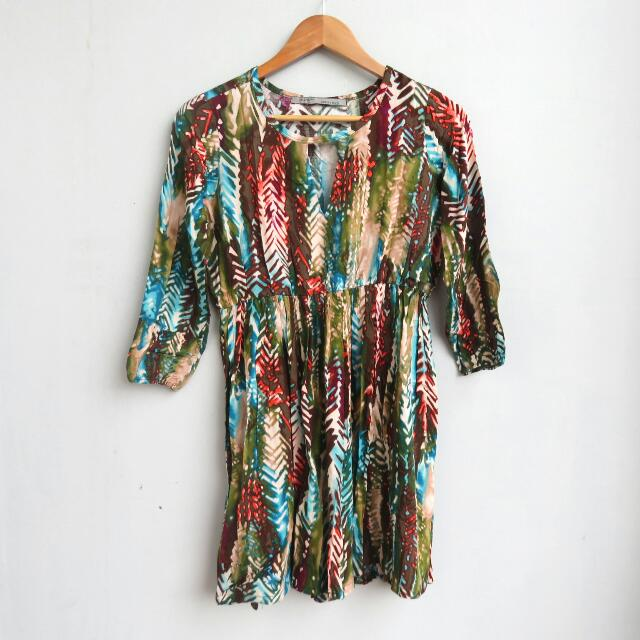 Tie Dye Skater Dress