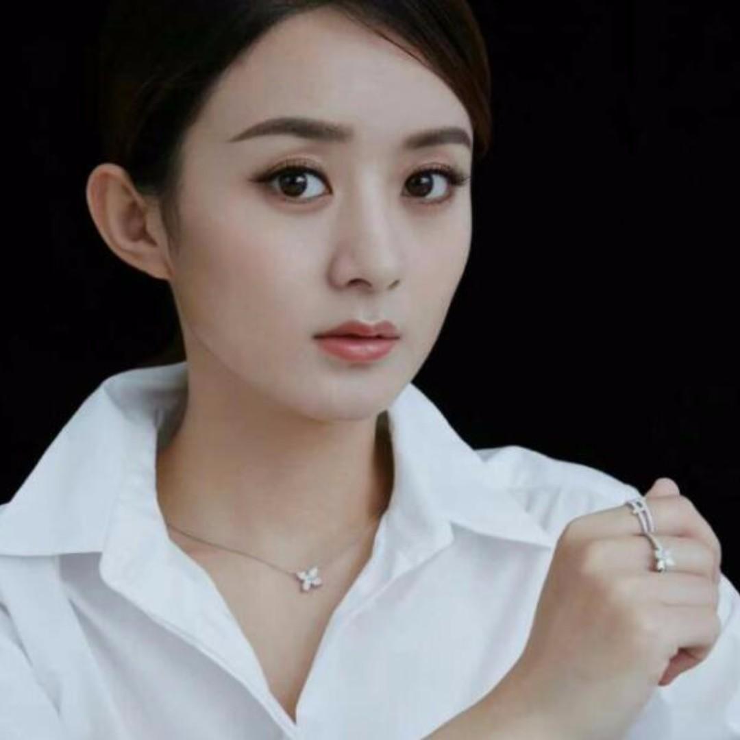 Tiffany 925純銀花朵鋯石項鍊