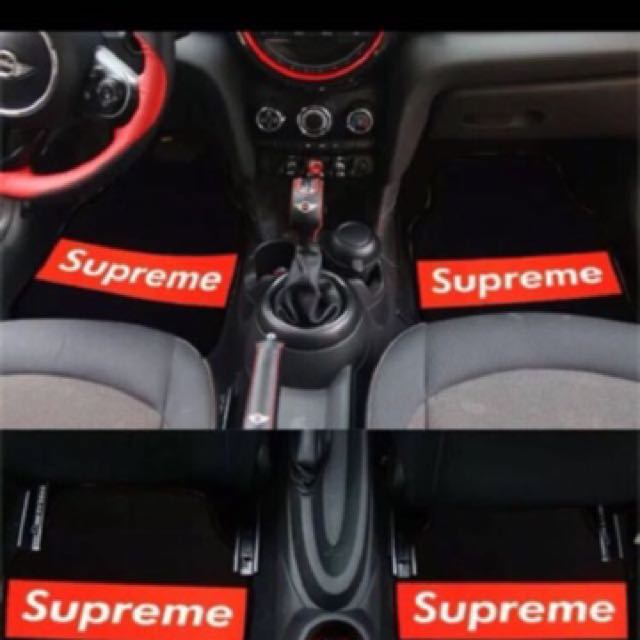 Universal Supreme car Interior Mat, Car Accessories on Carousell