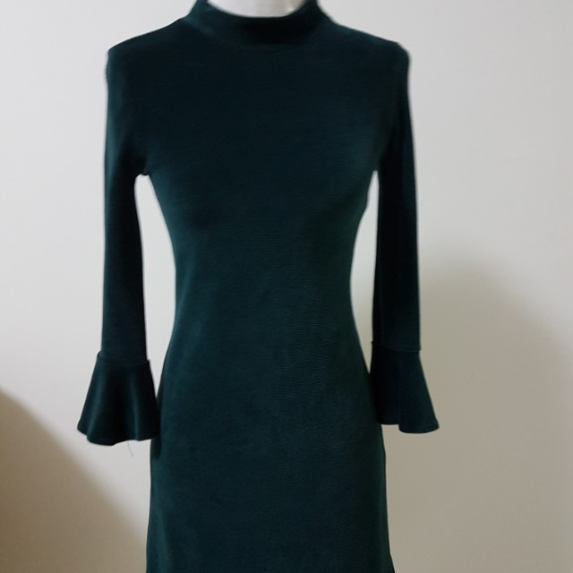 35bbb78c Velvet Turtle Neck Dress ZARA, Women's Fashion, Clothes, Dresses on ...