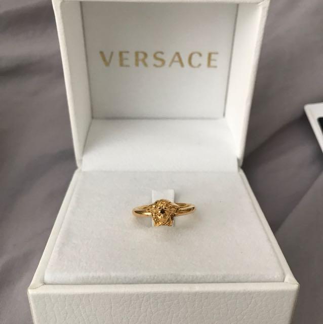 Versace Gold Medusa Head ring