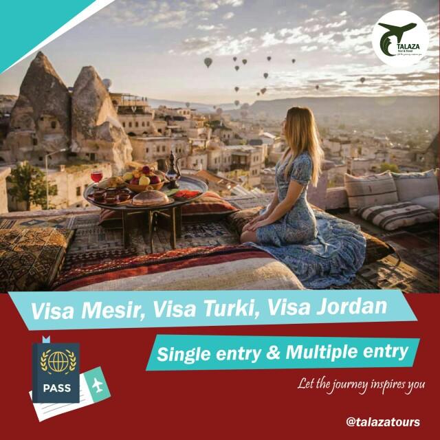 Visa Mesir, Visa Turki, Visa Jordan