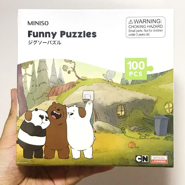 We Bare Bears (WBB) funny jugsaw puzzle (2 designs) miniso