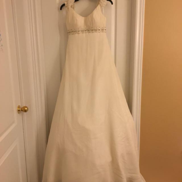 White 'Mon Cheri Bridals' Wedding Dress