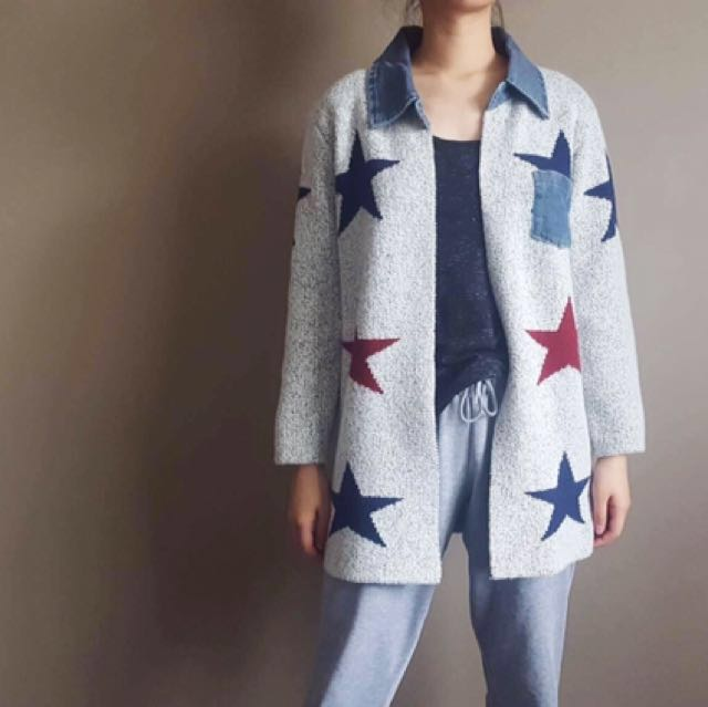 Woolen Star Coat