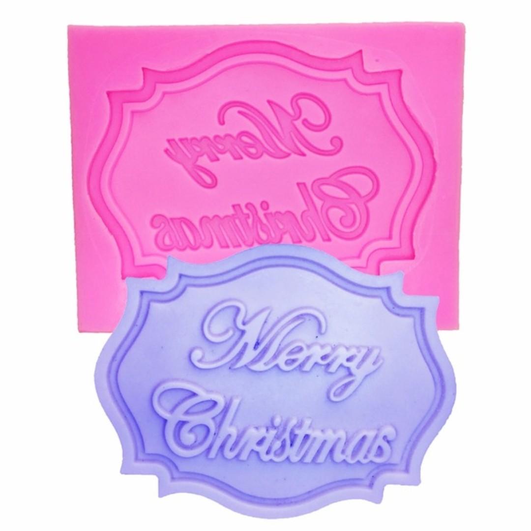 Xm185 Wording Merry Christmas Plaque Frame Season Greetings