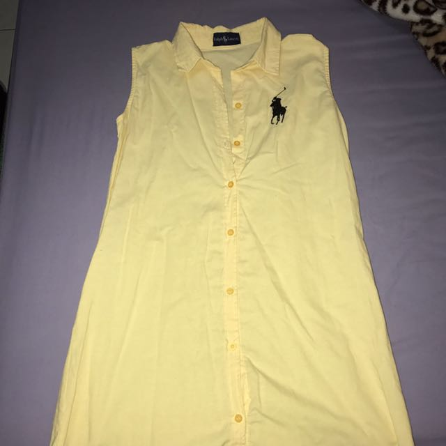 Yellow polo dress